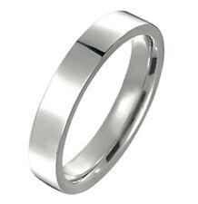 Mens Womens Plain Silver Wedding Flat Court Comfort Fit Ttianium Rings GM048