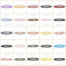 """6mm Fashion round gemstone beads stretchable bracelet 6.5"""""""