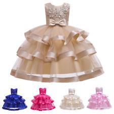 Child Flower Girl Kids Dress Bridesmaid Christmas Pageant Prom Tutu Tulle Dress