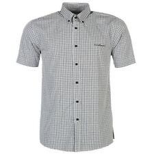 ✔ Pierre Cardin Herren kurzarm Hemd Schwarz Weiß punkte Polo T-Shirt Herrenhemd
