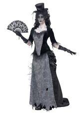 Smiffys Ghost Town Schwarze Witwe Gothik Geisterhaft Damen Halloween Kostüm