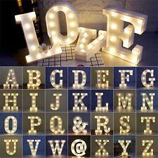 Alphabet LED Letter Light Lamp Plastic English Letters Stand Hanging Decor RC875
