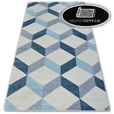 8 Größen Modernen Weich Teppich NORDIC OPTIC creme Quadrate angenehm modisch