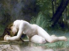 Nude Girl W. Bouguereau Water River Tile Mural Kitchen Backsplash Ceramic 10x8