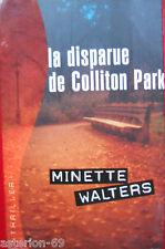LA DISPARUE DE COLLITON PARK:MINETTE WALTERS