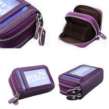 Unisex Genuine Leather Money Zipper Wallets ID Credit Card Holder HOT