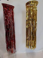 Hängedeko Folie rot / gold Deko Folien-Hänger Silvester 75cm, Ø 21cm 129161413