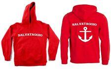FELPA BAGNINO salvataggio ancora mare rossa con cappuccio tasca Fruit of the loo
