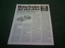 September 1986 Fiat Uno 45 903cc MOTOR TRADER SERVICE DATA FOLDER - Brochure