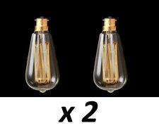 Box 2 BC Filament bulb vintage Edison Style squirrel cage lamp 40w 60w