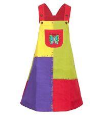 Buntes Patchwork Kinder-Kleid mit Tiermotiv Schmetterling