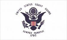 Us Coast Guard Flag 3x5 ft Uscg Emblem United States Semper Paratus 1790 White