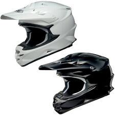 Shoei VFX-W Plain MX Motorbike Motorcycle Motocross Helmet Off Road Black White