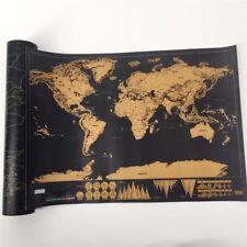 Carte du Monde à Gratter Voyage Mural Affiche Personnalisé Scratch Map Wall