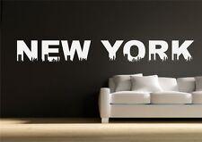 NEW York a tema Muro Adesivo Trasferimento Decalcomania Murale Stencil Artistico TATUAGGIO STAMPA
