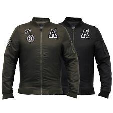 mens jacket threadbare coat MA1 harrington padded badge military varsity winter