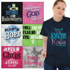 Womens Christian T-Shirt Jesus Christ Cross Lord Ladies Christianity Tee Shirt