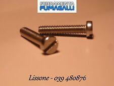 VITE VITI M5 M6 TESTA CILINDRICA IMPRONTA TAGLIO ACCIAIO INOX A2 DIN 84