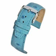12mm 18mm Blu Di Alta Qualità Cinturino Orologio Grana di struzzo con fodera in nabuk