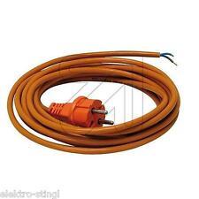 Anschlußkabel PUR orange H05BQ-F 2x1 mit Konturenstecker, Anschlussleitung Kabel