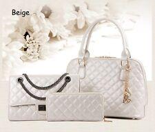3 PCS Diamond Leather Bag