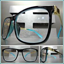 Men's CLASSIC VINTAGE RETRO Style READING EYE GLASSES READERS Black & Gold Frame