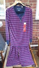 Nautica Women's 2 Piece Sleepwear Set - Microfleece Pyjamas - Striped
