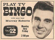 1964 wkrc tv ad ~ Tv Bingo with Host Murray Roberts ~ Cincinnati Game Show
