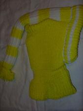 Kindermütze Wintermütze Schlauchmütze / gelb / neu /      M / 10