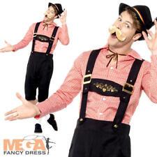 Bavarian Beer Guy Mens Fancy Dress German Oktoberfest Lederhosen Adults Costume