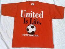 Redwood UNITED IS LIFE Football Manu Sport Star Fan Red Rot T-Shirt g.XL/XXL