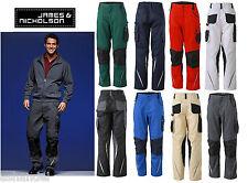 JN832 JAMES & NICHOLSON Workwear Arbeit Herrenhose Bundhose Arbeitshose Cargo