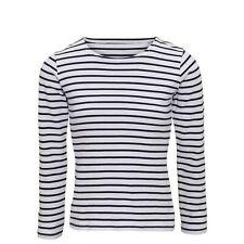 Asquith & Fox Womens/Ladies Mariniere Coastal Long Sleeve T-Shirt (RW6028)
