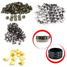 50/100pcs Fashion Pyramid Shape Metal Clothing Studs Rock Punk Leather Bags Goth