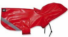 NEW (Choose Size) Red Reflective Slicker Dog Raincoat Coat Jacket Petrageous
