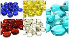 100 X VETRO COLORATO i ciottoli ** varietà di colori e mescola tra cui scegliere **