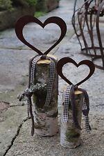 Edelrost Herz mit Schraube Bausatz Garten Terrasse Geschenk Metall 2 Größen