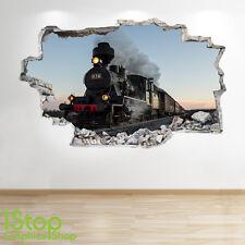 TRENO a vapore Wall Sticker 3d Look-per Ragazzi Bambini Camera Da Letto Treno murali z203