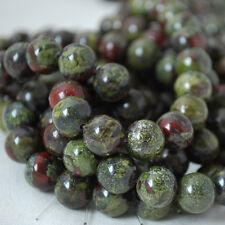 Jaspe piedras preciosas naturales de dragones de sangre redonda granos-Grado A - 4 mm 6 mm 8 mm 10 mm