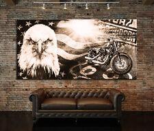 LEINWAND BILD XXL HARLEY DAVIDSON MODERN ABSTRAKT POSTER WAND BILD MOTORRAD