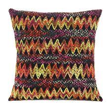 Square Home Decor Designer Cushion Covers Multicolor Satin Throw Pillow Cases