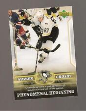 Sidney Crosby Rookie Upperdeck 2006 Phenomenal Beginings Card #8
