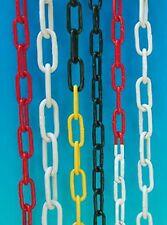 Absperrkette Stahlkette - Metall rot-weiß, Bund a 10 m, verschiedene Stärken