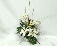 FA1026 - White Lilies and Orchids Floral Arrangement
