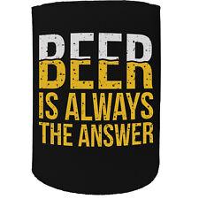 Stubby Support-Bière Answer-Drôle Nouveauté Cadeau D'Anniversaire Blague Bière Bouteille