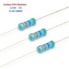 500pcs Carbon Film Resistor 0.5W 1/2W - Full Range of Values ( 0.1Ω-10MΩ )