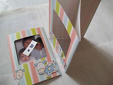 Faire - Part naissance Porte Photo carte enfant bébé enveloppe lot : 6 dépliants