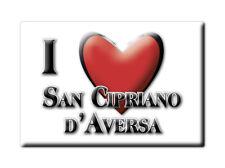 CALAMITA CAMPANIA FRIDGE MAGNETE SOUVENIR I LOVE SAN CIPRIANO D'AVERSA (CE)