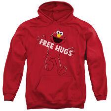 Sesame Street Free Hugs Mens Pullover Hoodie Red