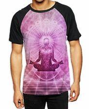 Meditation Lotus Pose Men's All Over Baseball T Shirt - Buddhist Yoga Meditation
